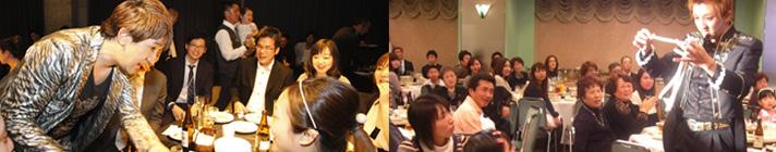 結婚式テーブルマジック